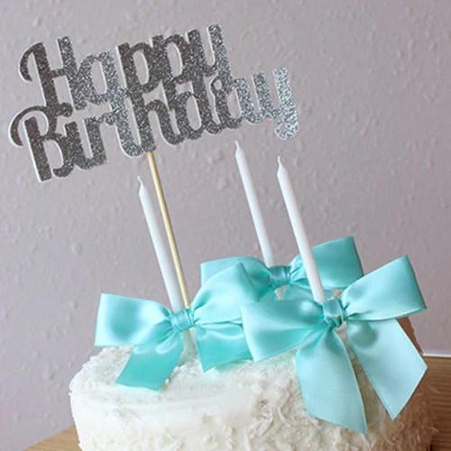 Glitter Happy Birthday Cake Topper Ships In 1 3 Business