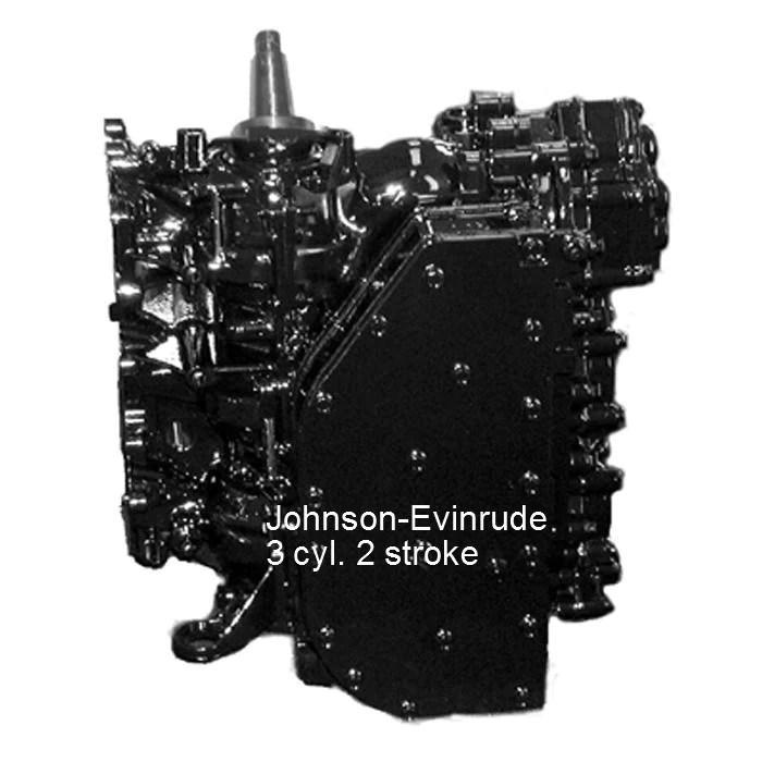 JohnsonEvinrude Remanufactured Powerhead 3Cyl 5070 HP 19892001 – Rainboat