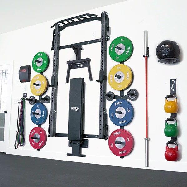 prx wall mounted murphy squat rack with pull up bar