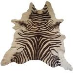 Designer Cowhide Rug Brown And Tan Zebra