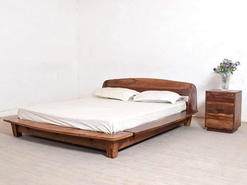 Tahiti Platform Queen Bed In Teak Finish By Urban Ladder Getmycouch