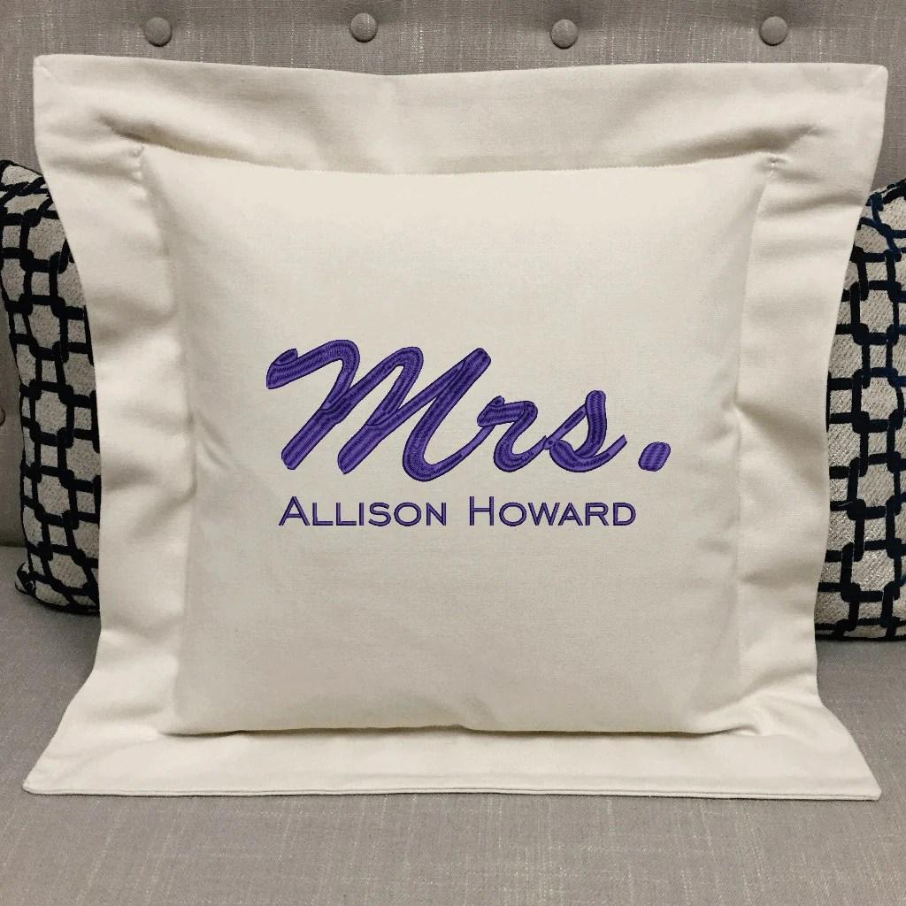 wedding mrs pillow forever pillows