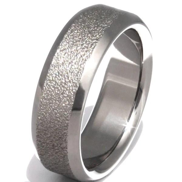 The Alaska Frost Titanium Wedding Ring F6 Titanium