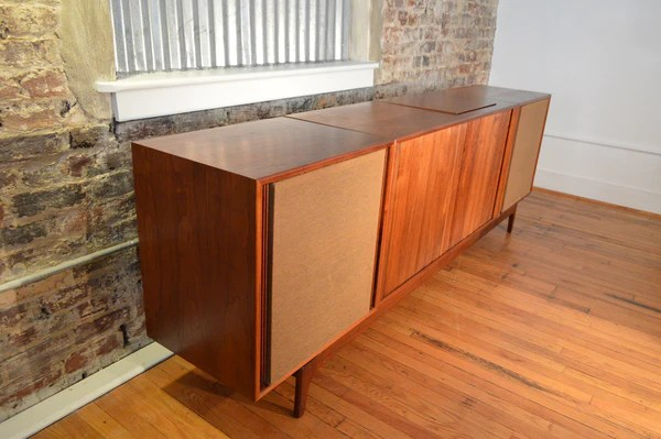 Barzilay Danish Modern Stereo Console With Electro Voice