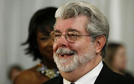 george lucas trimmed beard too high on neckline
