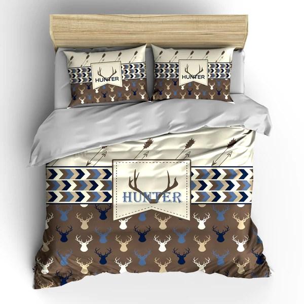 Deer Head And Antler Bedding Set Duvet Or Comforter