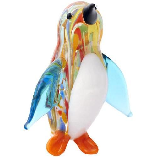Venetian Style Glass Penguin Figurine 3 Tall Penguin