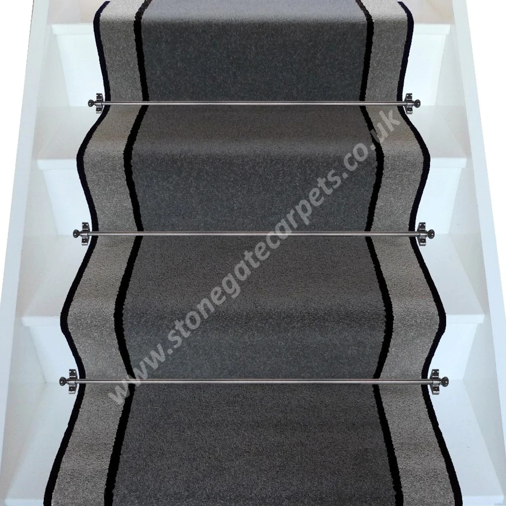 Brintons Carpets Bell Twist Smoke Ebony Pewter Stair   Twist Carpet For Stairs
