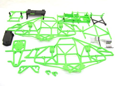 Axial Smt10 Grave Digger Green Main Frame Amp Cage Chassis