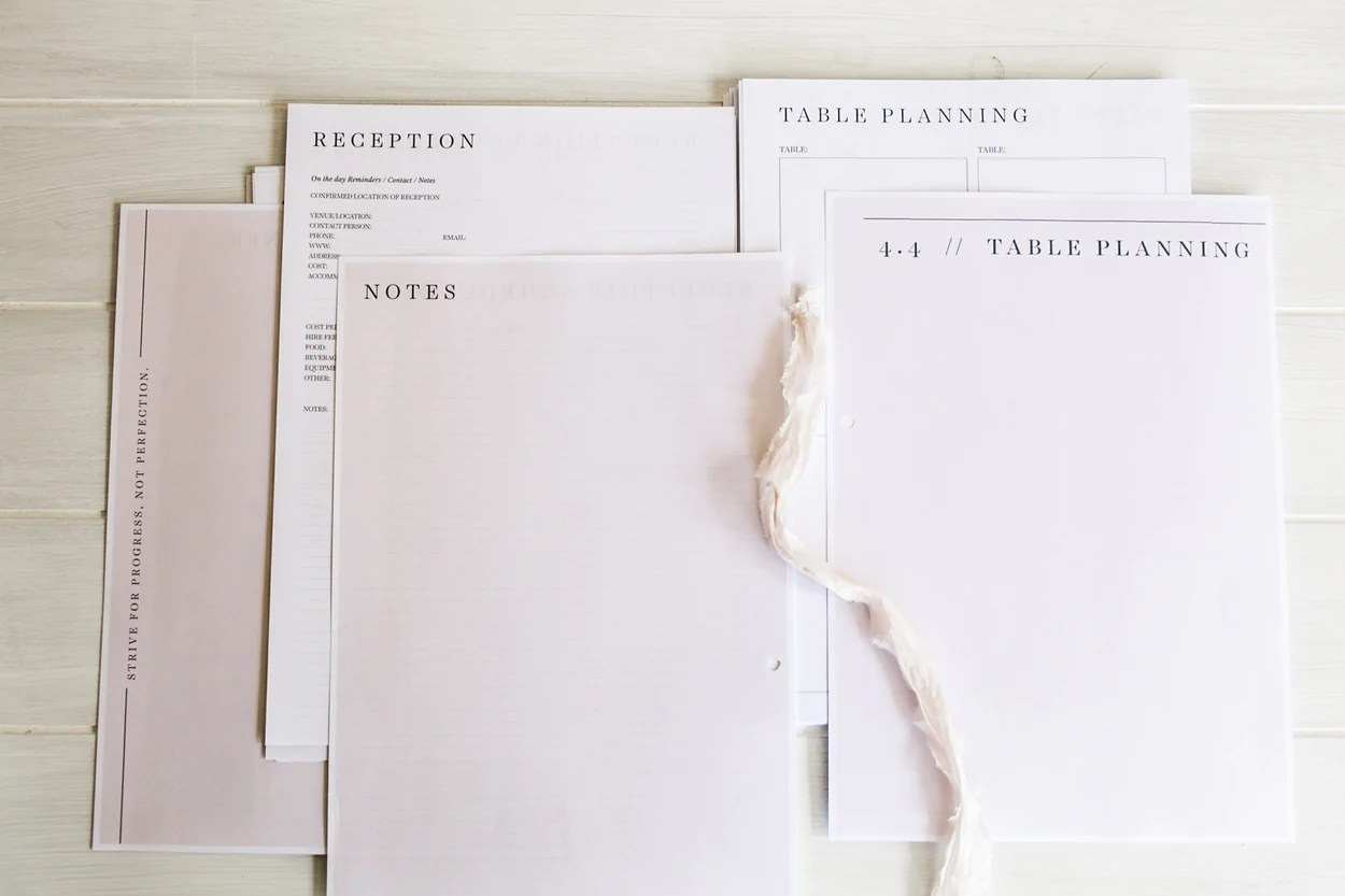 Printable Wedding Planner / Organiser And The Perfect