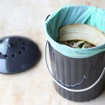 Molded Bamboo Kitchen Compost Bin Natural Home Brands