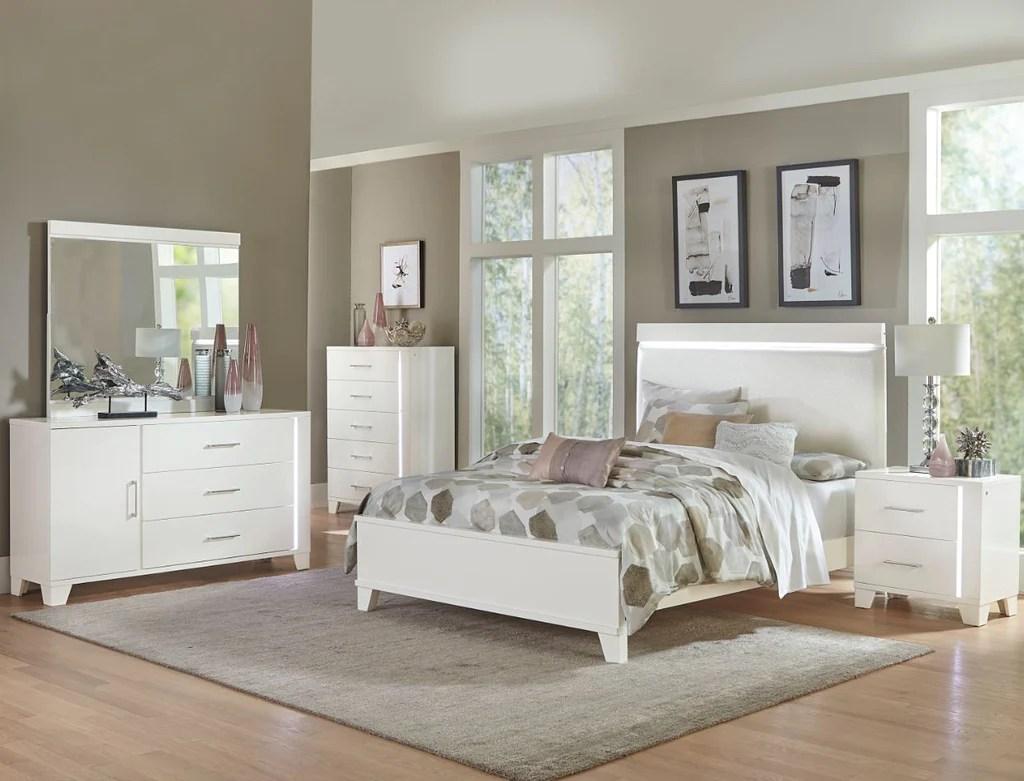 keren white king bedroom set