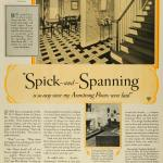 1928 Ad Armstrong Cork Co Floors Wood Stairs Mrs D P Mason S Home M Period Paper