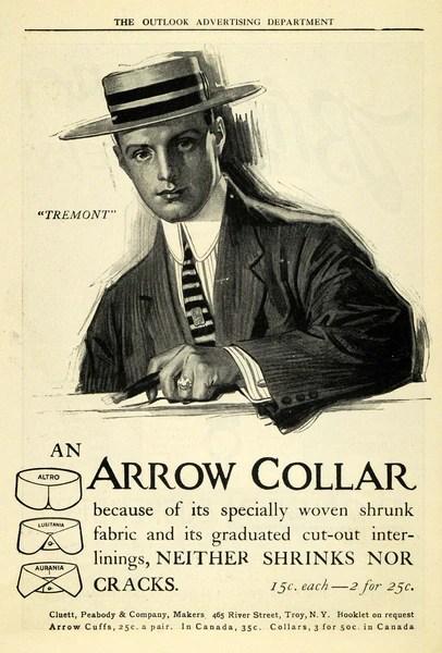 1909 Ad Cluett Peabody Arrow Collar Tremont Model Shirt Clothing TOM3 –  Period Paper Historic Art LLC