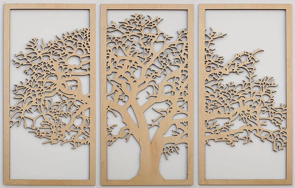 Tree Of Life 3D 3 Panel Wall Art