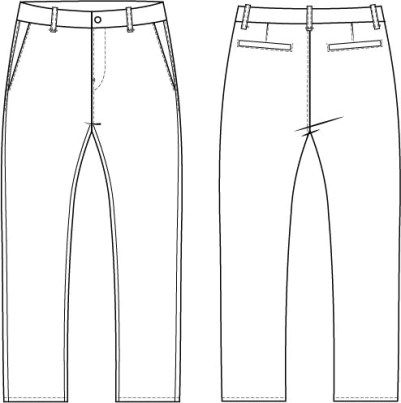 Chino pants sewing pattern
