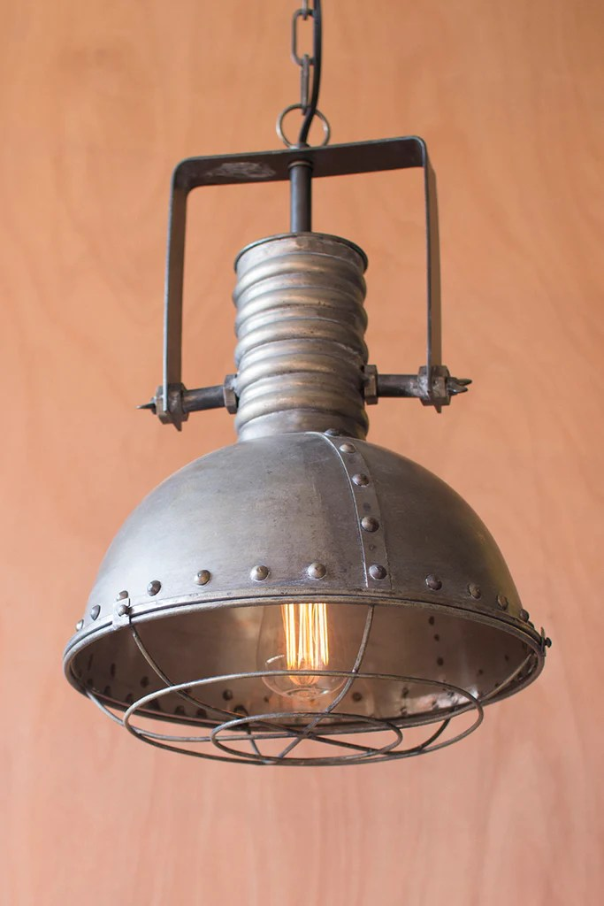 vintage warehouse metal pendant lamp industrial antique metal finish