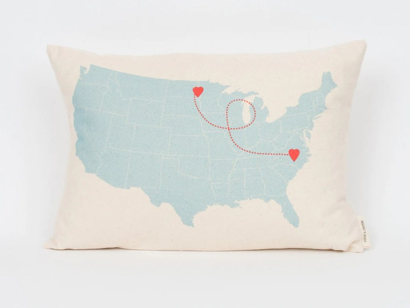 map-pillow