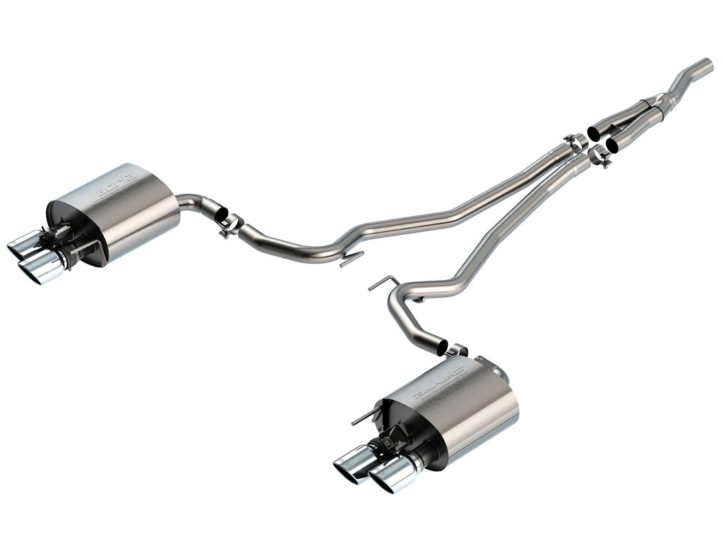 borla s type catback exhaust for 2019 ford ecoboost mustang w active exhaust