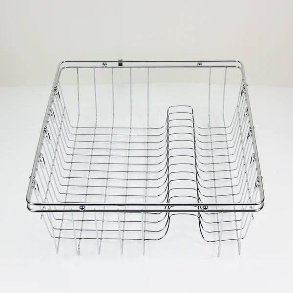 Stainless Steel Dish Rack Chrome Racks Dishrack Drying Cutlery Drainer