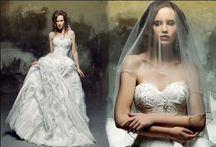 Organza Wave Ball Gown With Sweetheart Neckline/Sweetheart