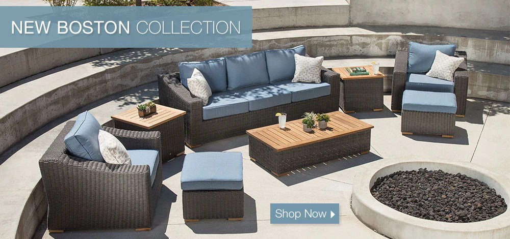 La Z Boy Outdoor Patio Furniture  Recliners  Sofas  Comfort   Style     New Boston Patio Collection