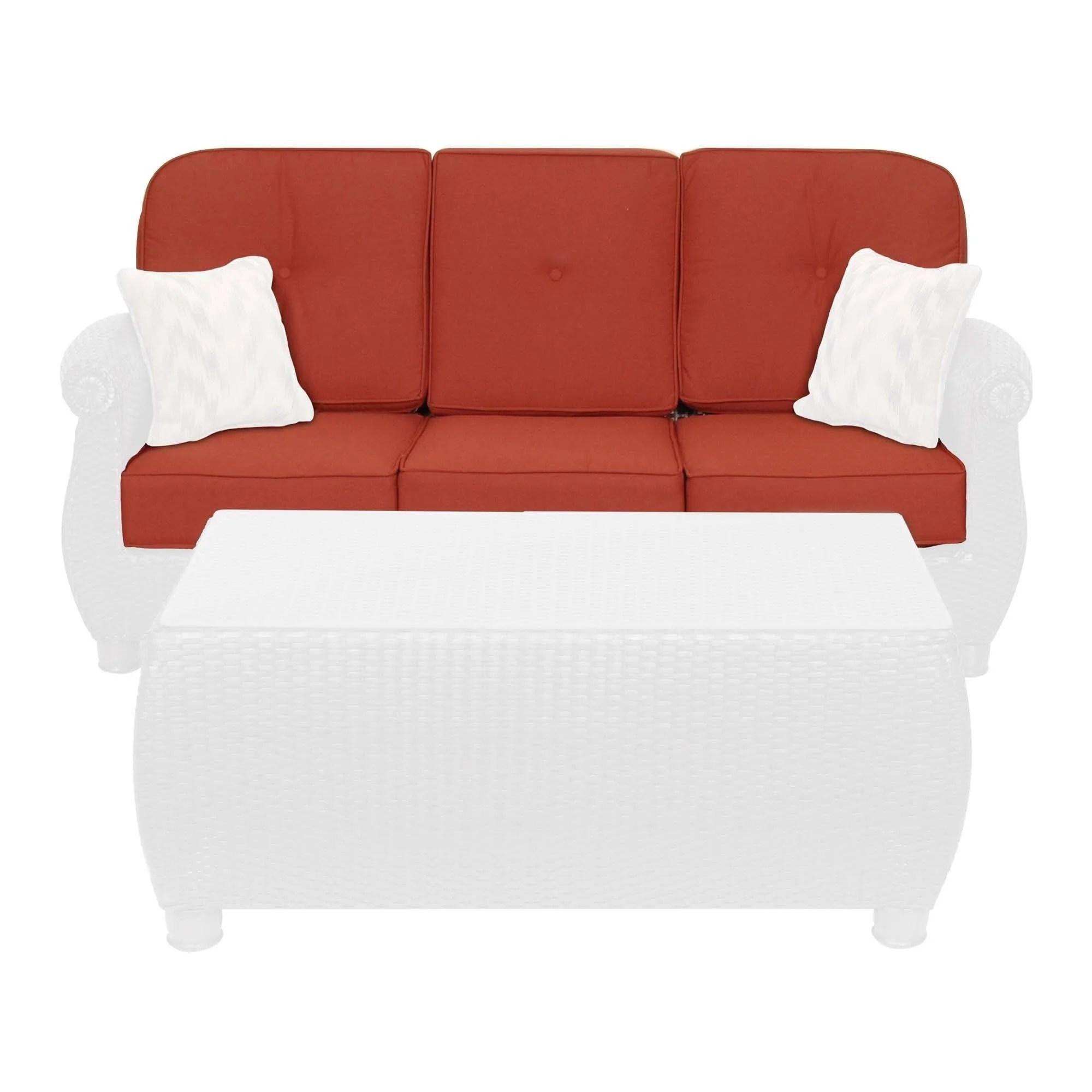 breckenridge outdoor sofa replacement cushion set