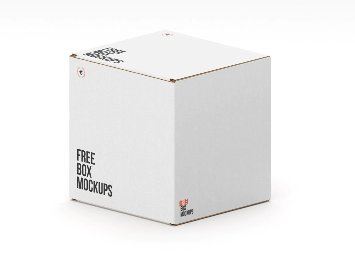 Download Free 7 Square Box Mockups - CreativeBooster