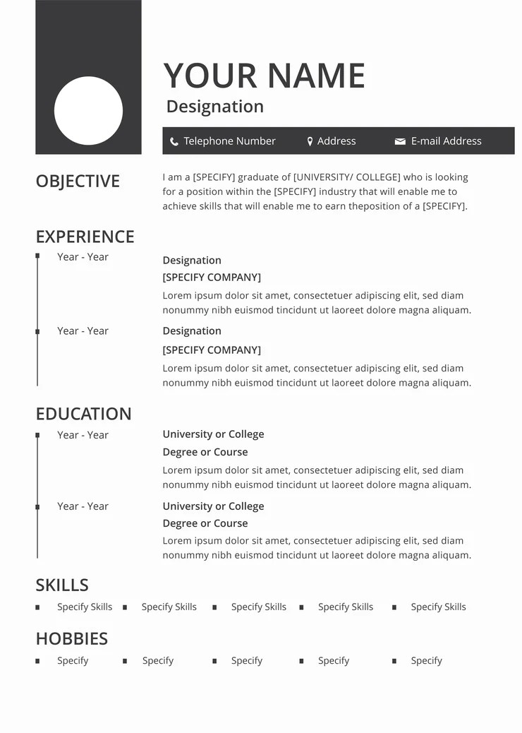This resume template has a. Free Blank Resume Cv Template In Photoshop Psd Illustrator Ai And Creativebooster