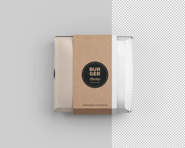 Download Free Burger Box Package Mockup PSD - CreativeBooster