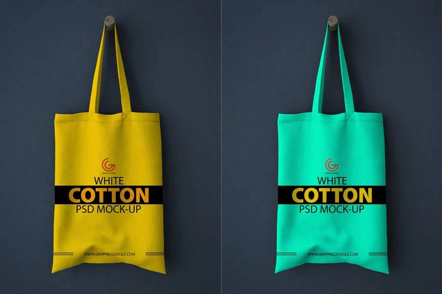 Free isometric view tote bag mockup psd no reviews. Free White Realistic Cotton Shopping Bag Mockup Creativebooster