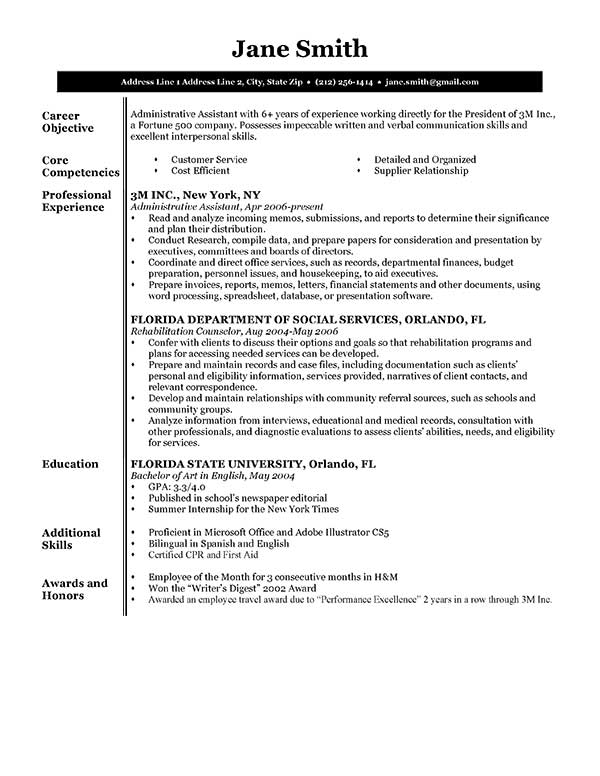 The best free online cv maker out there! Free Executive Resume Templates In Microsoft Word Format Creativebooster