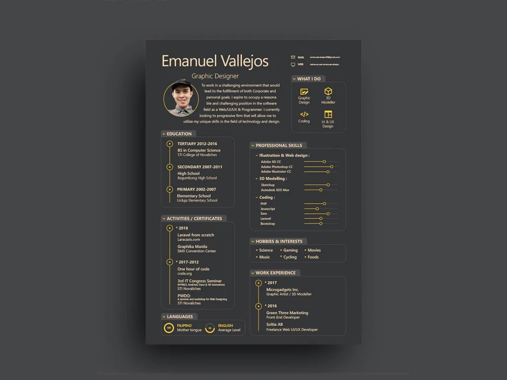 Adobe illustrator resume template free download for your dream job. Free Resume Templates In Illustrator Ai Format Creativebooster