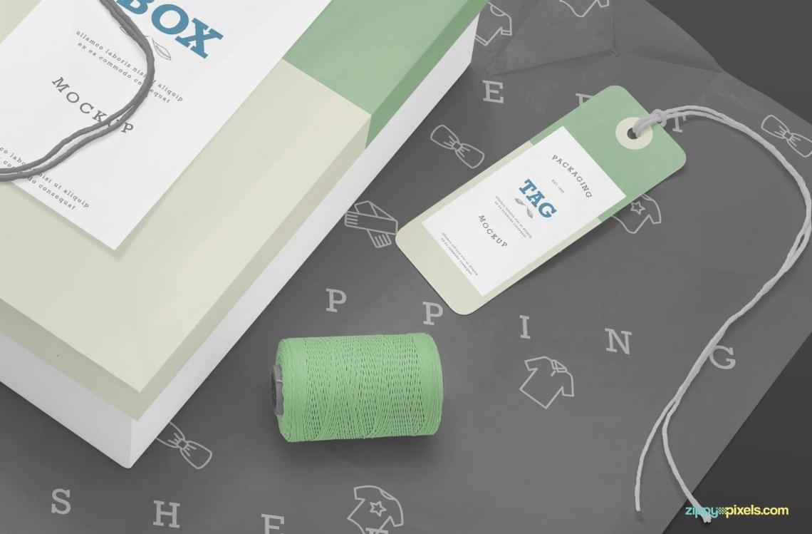 Download Free Rectangle Box Mockup PSD - CreativeBooster