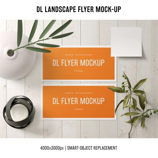 Thanks to anik paul joyraj. Free Dl Landscape Flyer Invitation Mockup Creativebooster
