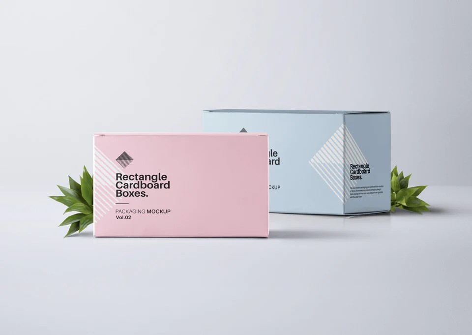 Download Free Rectangular Psd Packaging Box Mockup Front View ...