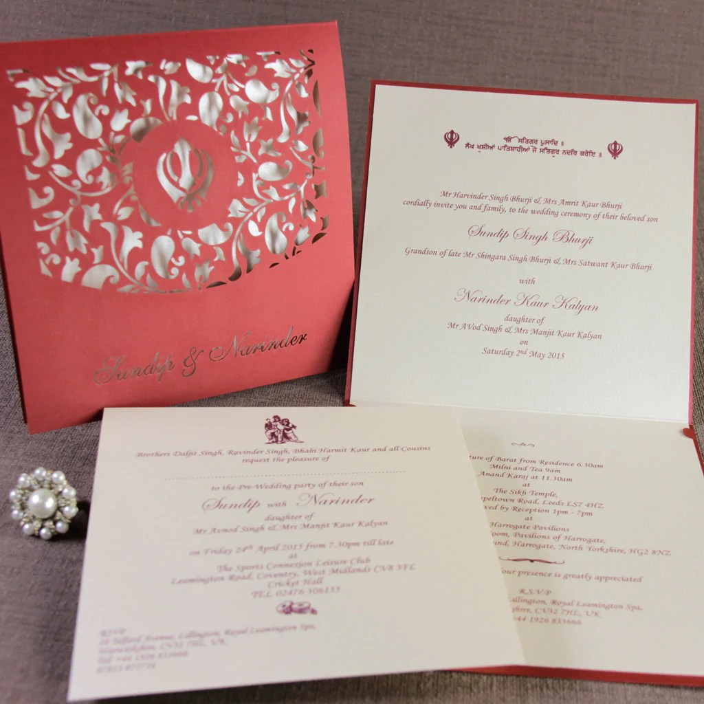 Indian Wedding Invitations North London | Invitationjdi.co