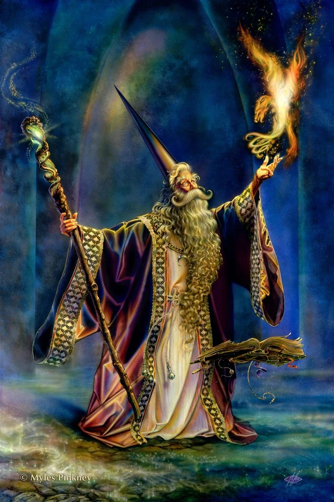 rMP3 - Wizard Card (Cards - Myles Pinkney) at Enchanted Jewelry & Gifts