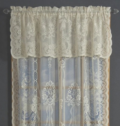 Balmore Cotton Polyester Lace Curtains American Balmore Lace Curtains Sale White