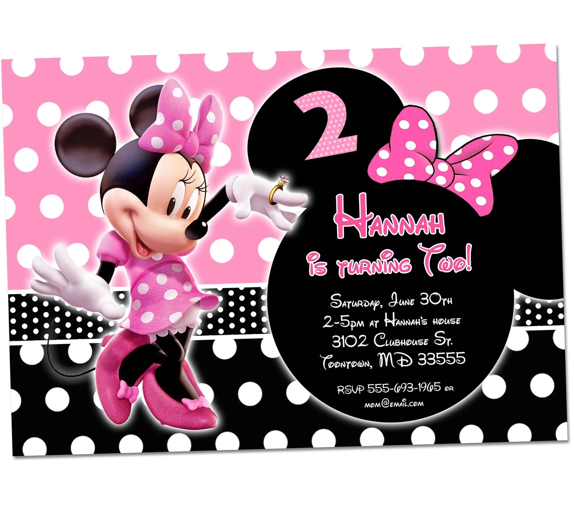 minnie mouse birthday invitation 1st birthday first bday girl pink chalkboard invite party printable