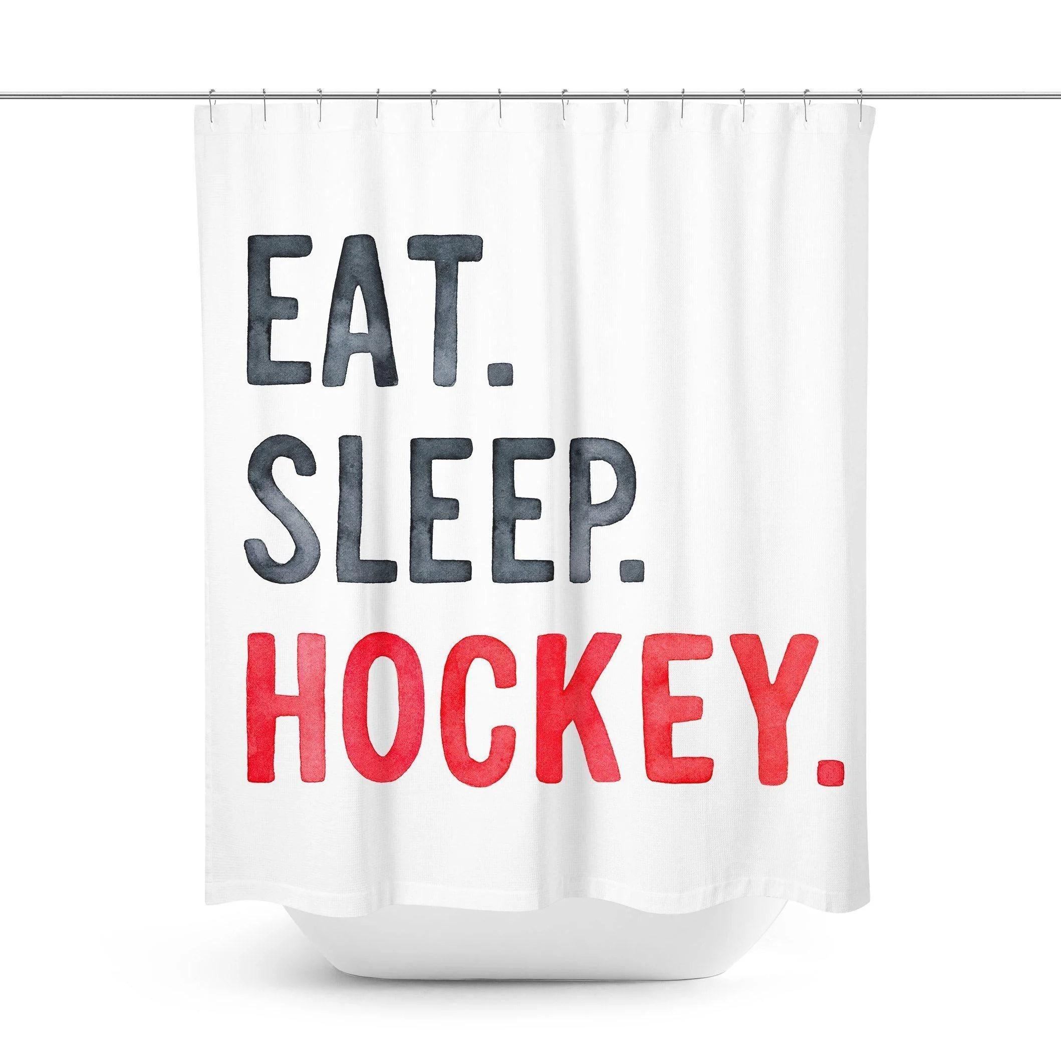 ice hockey shower curtain
