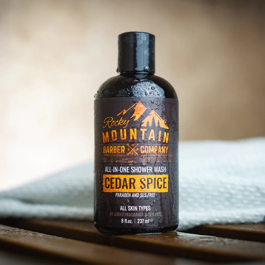 All In One Shower Wash Cedar Spice Rocky Mountain