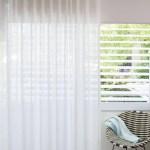 Custom Curtains I Sheer White Linen Curtains I Leh Almost White Spiffy Spools
