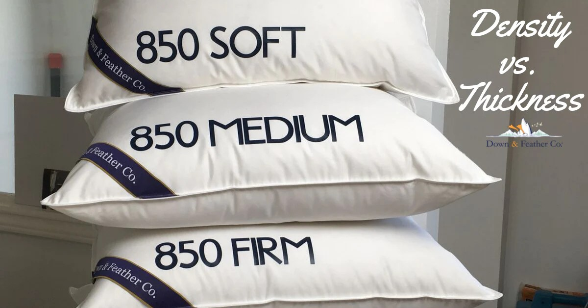 down pillow density how to choose