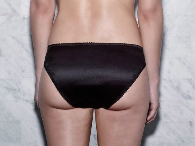 Tyra Panty Black Silk