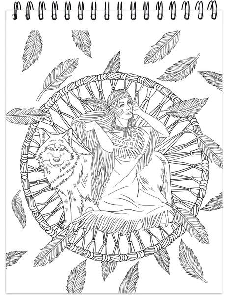 colorit native american adult coloring book of dream
