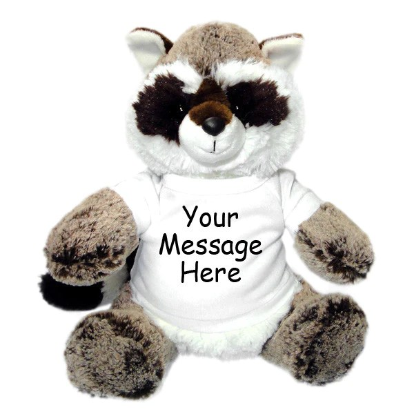 Personalized Stuffed Raccoon Aurora Plush Say It With