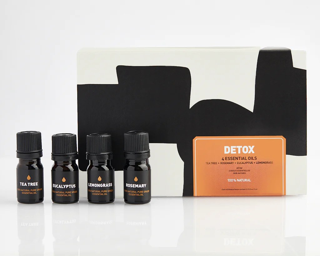 DETOX ESSENTIAL OIL GIFT SET - FRANKINCENSE - PEPPERMINT ...