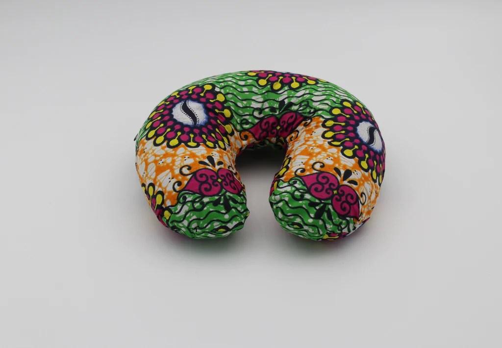 african print u shape travel neck pillow