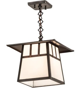 12 sq stillwater double bar mission outdoor pendant